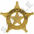 Game Sportswear Constable Badge Embroidery