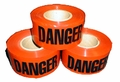 Danger Barricade Tape in Red