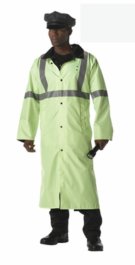 Deluxe Reversible Reflective Rain Parka in Lime