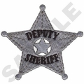 Game Sportswear Deputy Sheriff Badge Embroidery