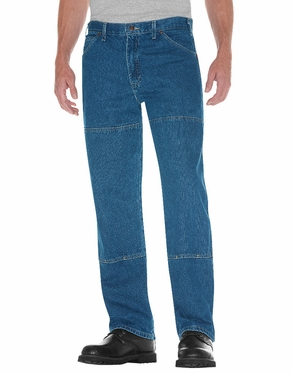 Dickie's Relaxed Fit Workhorse Denim Jean-Stonewashed