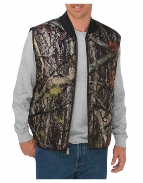 Dickies Diamond Quilted Camo Vest