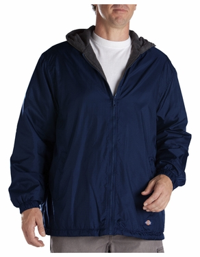 Dickies Fleece Lined Hooded Nylon Jacket