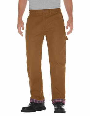 Dickies Relaxed Straight Fit Flannel-Line Carpenter Duck Jean