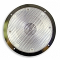Weldon Dome - Hal, GH9 Bulb, SF, Clear, Stainless Steel, Rec. Mt.
