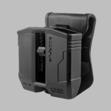 DOUBLE MAGAZINE POUCH W/ SWIVEL FOR GLOCK 9MM