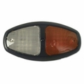 Weldon Dual LED Dome, Ground Sw, Black Bezel, Red/Clear