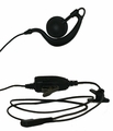Earbud with Large Speaker and PTT