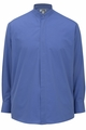 Edwards Garment Broadcloth Banded Collar Shirt - Long Sleeve