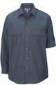 Edwards Garment Chambray Roll-Up Long Sleeve Shirt