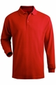 Edwards Garment Soft Touch Blended Pique Polo - Long Sleeve