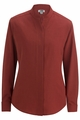 Edwards Garment Batiste Stand-up Colloar Blouse - Long Sleeve