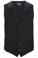 Edwards Garment Black Satin Shawl Vest