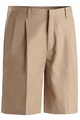 "Edwards Garment Business Casual Pleated Front Chino Short - 9"" Inseam"