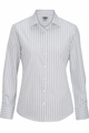 Edwards Garment Double Stripe Dress Poplin Blouse - Long Sleeve