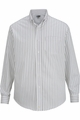 Edwards Garment Double Stripe Dress Poplin Shirt - Long Sleeve