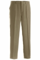 Edwards Garment Easy Fit Flat Front Microfiber Dress Pant - Repreve Fiber