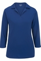 Edwards Garment Flat-Knit Performance Polo - 3/4 Sleeve