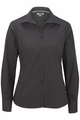 Edwards Garment Lightweight Open Neck Poplin Blouse - Long Sleeve