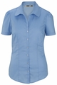 Edwards Garment Open Neck Short Sleeve Stretch Blouse