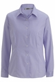 Edwards Garment Signature Non-Iron Soft Collar Oxford Blouse - Long Sleeve
