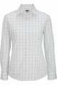 Edwards Garment Tattersall Dress Poplin Blouse - Long Sleeve