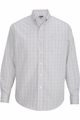 Edwards Garment Tattersall Dress Poplin Shirt - Long Sleeve