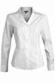 Edwards Garment V-Neck Tailored Stretch Broadcloth Blouse