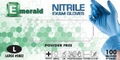 Emerald Powder-Free Nitrile Exam Gloves - 3.5 Mil