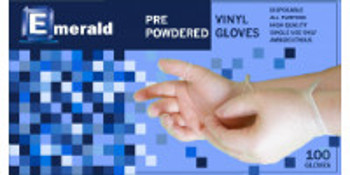 Emerald Shannon Powdered Vinyl Gloves - 4 Mil