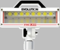 "Evolution LED Telescopic Floodlight - Top Mount Pull Up w/ Sq 3"" Flange"