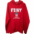 Official FDNY Hoodie Red Sweatshirt