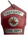 Firefighter Key Chain Shield in Red