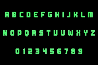 Foxfire Illuminating Letters and Numbers