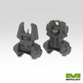 FRONT AND REAR SET OF FLIP-UP SIGHTS WITH TRITIUM - 2 REAR DOTS