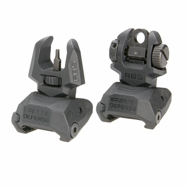 FRONT AND REAR SET OF FLIP-UP SIGHTS WITH TRITIUM - 4 REAR DOTS