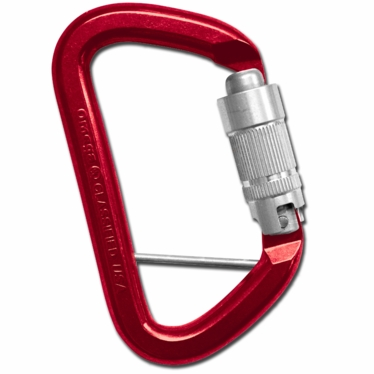 G-FIRST Aluminum Keylock Quik-Lok Red/Bright Captive Eye