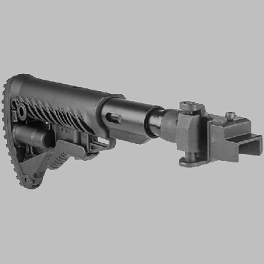GALIL-STYLE RECOIL COMPENSATING FOLDING, COLLAPSIBLE BUTTSTOCK SYSTEM FOR AK-47/74