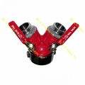 "Gated Wye 2 1/2"" Female Swivel X (2) 1 1/2"" Male Outlets"