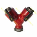 "Gated Wye 2 1/2"" Female Swivel X (2) 2 1/2"" Male Outlets"