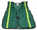 "Green Safety Vest with 3/4"" Reflective Striping"