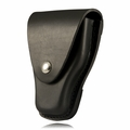 Boston Leather Handcuff Case w/ Snap Closure and Snap Back