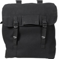 Rothco Heavyweight Black Jumbo Musette Bag