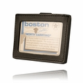 Boston Leather Horizontal ID Holder