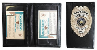 Boston Leather ID Case with 2 Oversized ID Windows