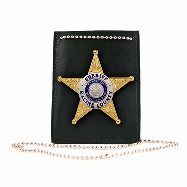 Boston Leather ID Holder w/ Generic Pin-in Ability