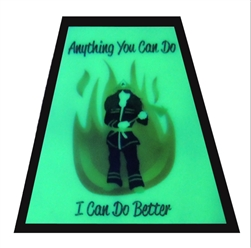 Illuminating Reflective Helmet Sticker: Female Firefighter