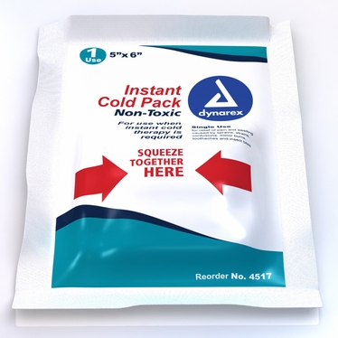 "Instant Cold Pack w/Urea (Non-toxic) 5"" x 6"", 24/cs"