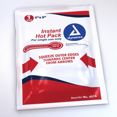 "Dynarex Instant Disposable Hot Packs 5"" X 9"" 24 Pack"
