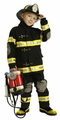 Jr. Fire Fighter Suit, Child Sizes (black)